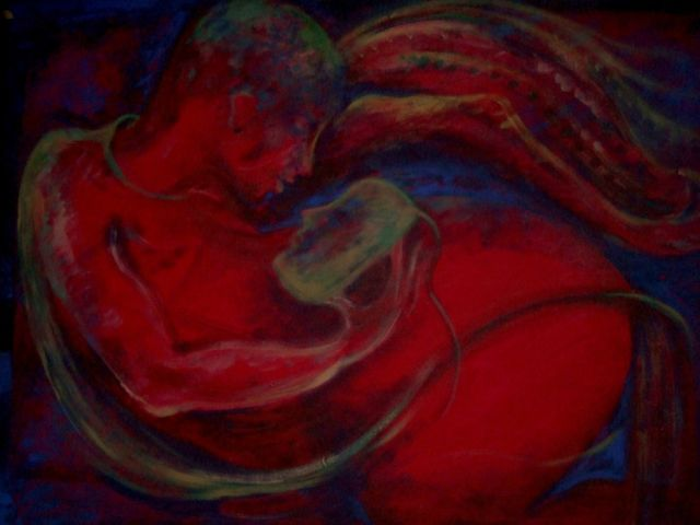 """""""mythic figure"""" oil painting 2009"""