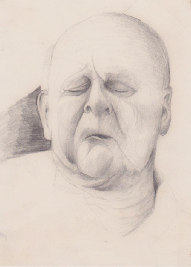 drawing of my grandfather  .  graphite on paper