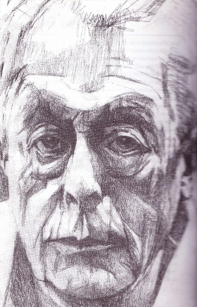 portrait austin coates (historian)  .  graphite on card  .  'a season in macau'