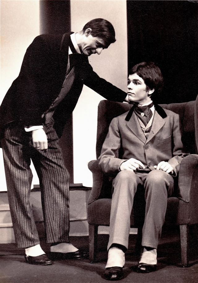 "Aidan Chambers as Ernest, me as Algernon  i ""The Importance of Being Ernest"""