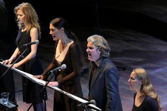 'a floresta' at la scala, milan 2009  Barbara Hannigan, Sara Ercoli, Terence Roe and Margot Nies.