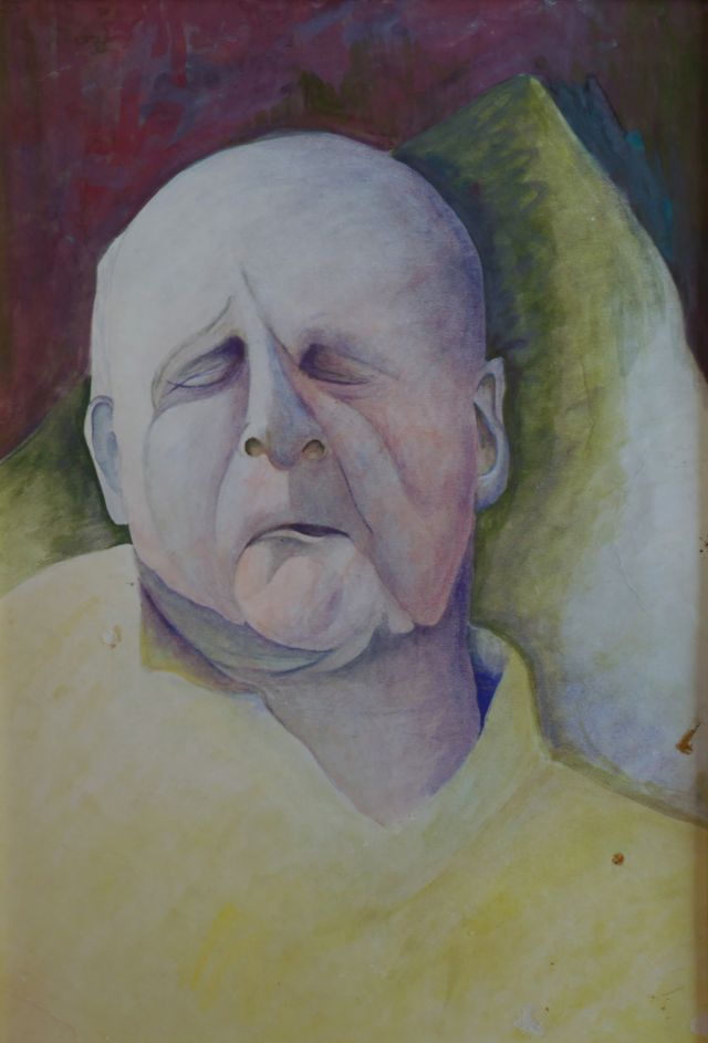 painting of my grandfather 1966 acrylic